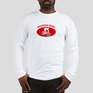 Mountain Biking (red circle) Long Sleeve T-Shirt