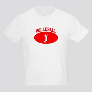 Mens Volleyball (red circle) Kids Light T-Shirt