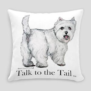 Westie Attitude Everyday Pillow