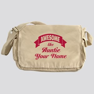 Awesome Like Auntie Pink Messenger Bag