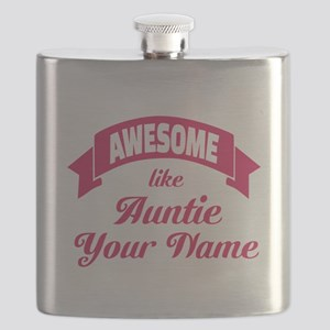 Awesome Like Auntie Pink Flask