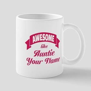 Awesome Like Auntie Pink Mugs