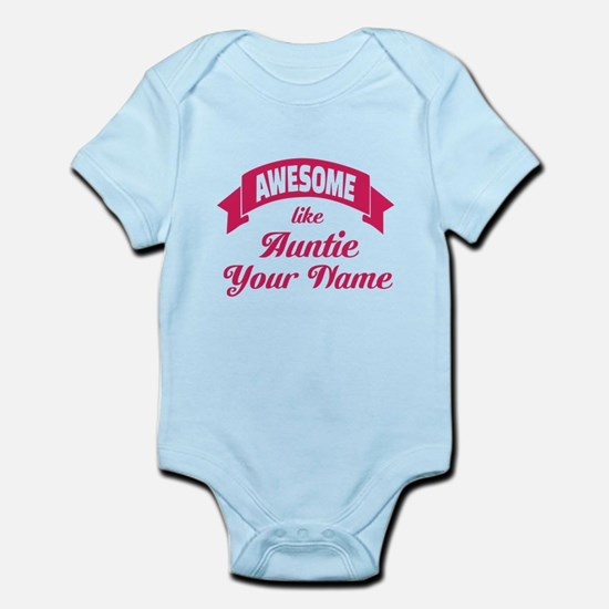 Awesome Like Auntie Pink Body Suit