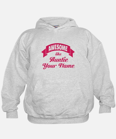 Awesome Like Auntie Pink Hoodie