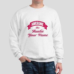 Awesome Like Auntie Pink Sweatshirt