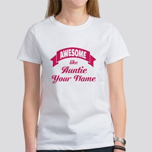 Awesome Like Auntie Pink T-Shirt
