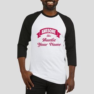 Awesome Like Auntie Pink Baseball Jersey
