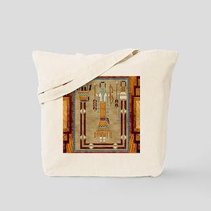 Harvest Moons Navajo Sand Painting Tote Bag