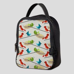 Mid Century Birds Neoprene Lunch Bag