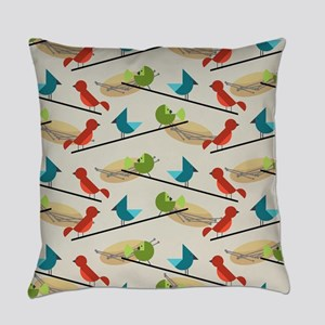Mid Century Birds Everyday Pillow