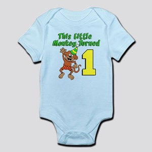 The Little Monkey Turned One Body Suit