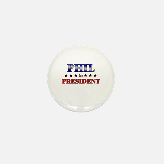 PHIL for president Mini Button