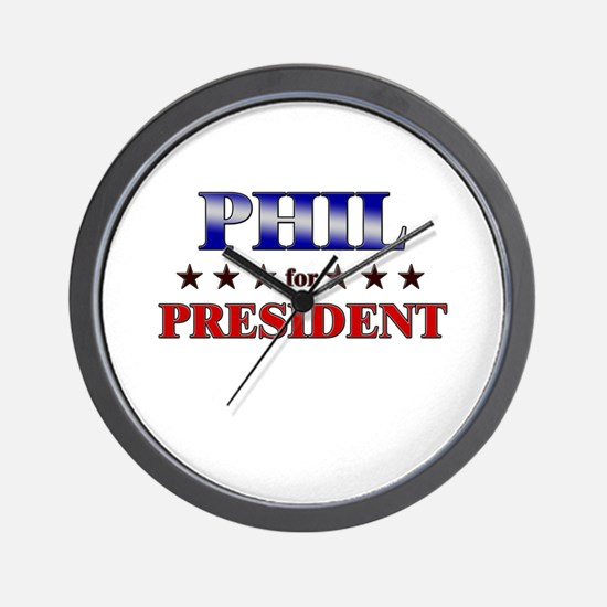 PHIL for president Wall Clock