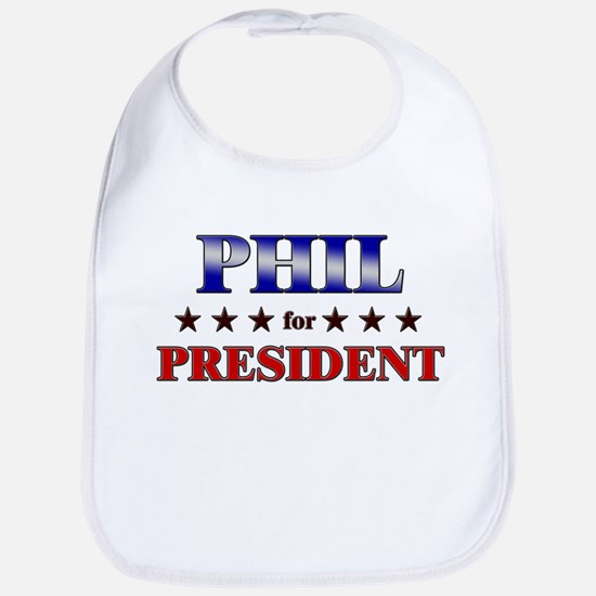 PHIL for president Bib