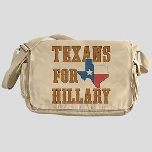 Texans for Hillary Messenger Bag