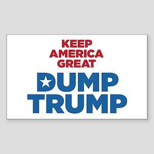Keep America Great Dump Trump Sticker
