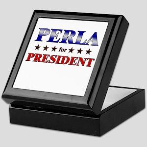 PERLA for president Keepsake Box