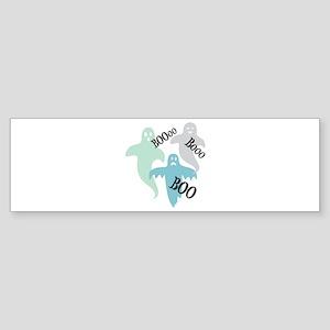 Ghosts Boo Bumper Sticker