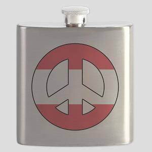 Austria Peace Sign Flask