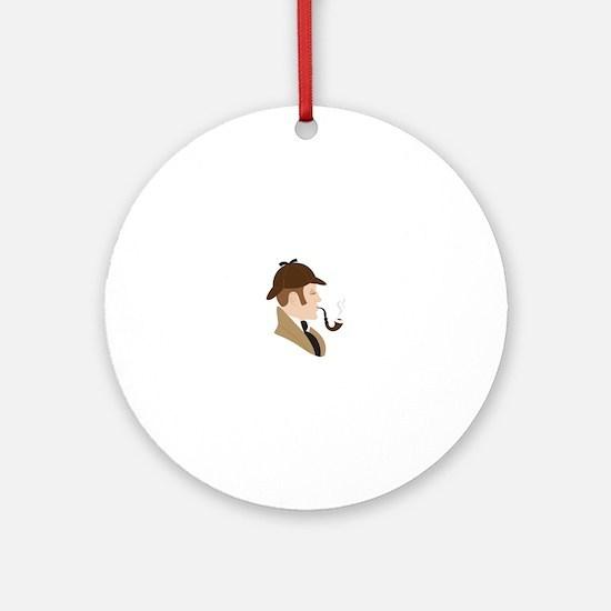 Sherlock Holmes Round Ornament