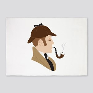 Sherlock Holmes 5'x7'Area Rug