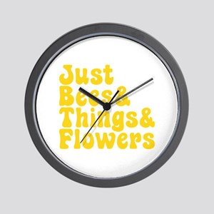 Just Bees & Things & Flowers Wall Clock