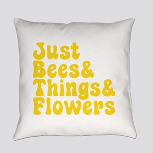 Just Bees & Things & Flowers Everyday Pillow