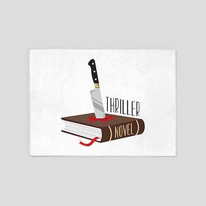 Thriller Novel 5'x7'Area Rug