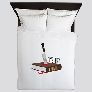 Mystery Novel Queen Duvet