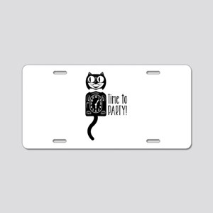 Time To Party Aluminum License Plate