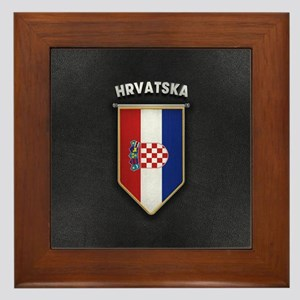 Croatia Pennant with high quality leat Framed Tile