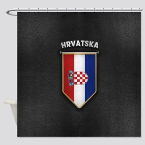 Croatia Pennant with high quality l Shower Curtain