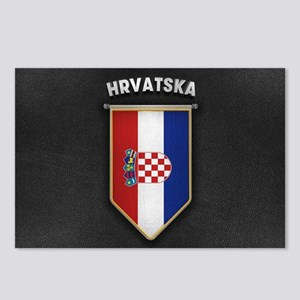 Croatia Pennant with high Postcards (Package of 8)