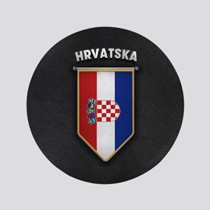 Croatia Pennant with high quality leather l Button