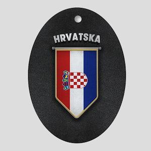 Croatia Pennant with high quality le Oval Ornament