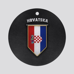 Croatia Pennant with high quality l Round Ornament