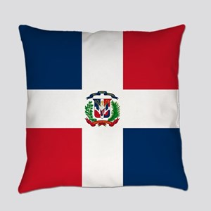 Dominican Republic Flag Everyday Pillow