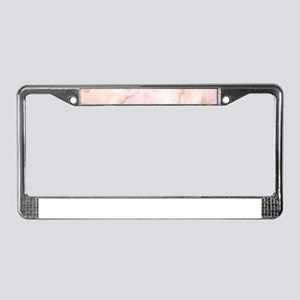 Watercolor Pink Floral Backgro License Plate Frame