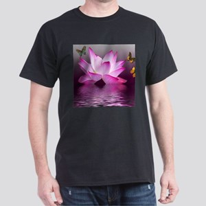 Lotus Flower with Butterfly T-Shirt