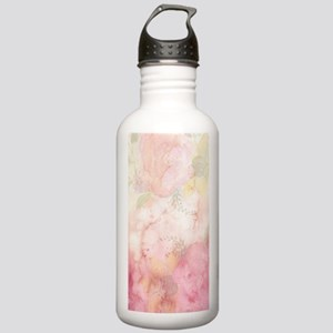 Watercolor Pink Floral Stainless Water Bottle 1.0L