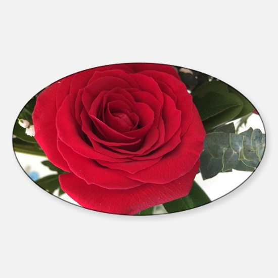 Unique Blooming rose Sticker (Oval)