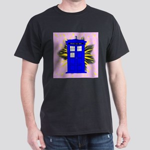 British Police Box With Abstract Explosion T-Shirt