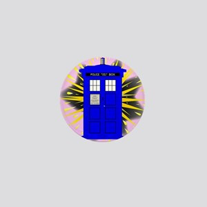 British Police Box With Abstract Explo Mini Button