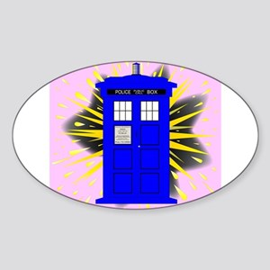 British Police Box With Abstract Explosion Sticker