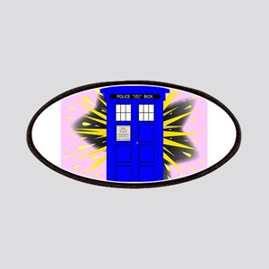British Police Box With Abstract Explosion Patch