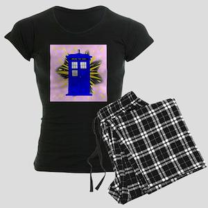 British Police Box With Abst Women's Dark Pajamas
