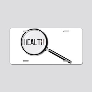 Health Magnifying Glass Aluminum License Plate