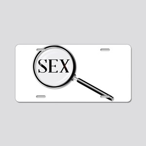 Sex Magnifying Glass Aluminum License Plate