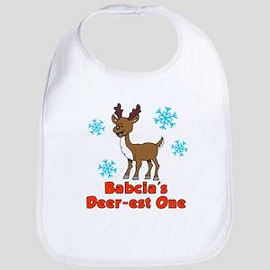 Babcia's Deer-est One Bib