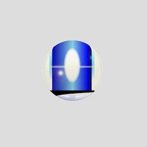 Police Blue Light Mini Button